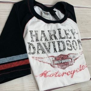 Harley-Davidson Ladies Baseball Tee With Bling